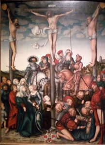 Crucifixion scene by Lucas Cranach the Elder